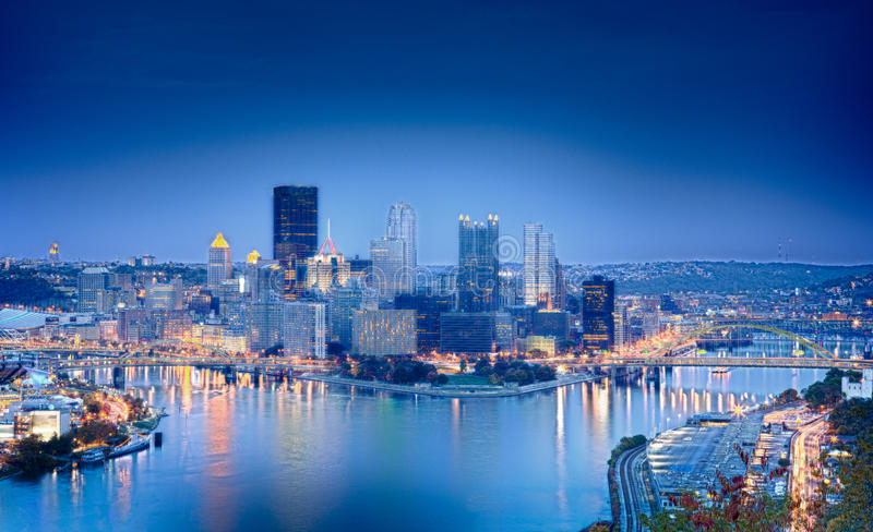 Download HDR image of Pittsburgh stock photo. Image of skyscrapers - 16694922