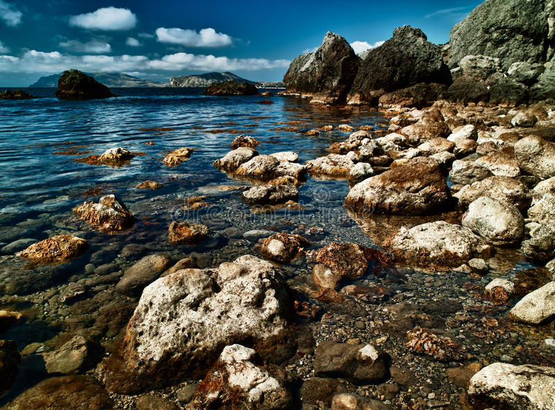 Download HDR Image With Sea Coast Stock Photo - Image: 21749210