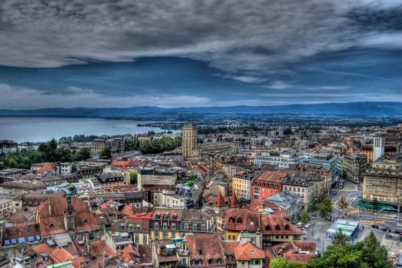 hdr Lausanne Switzerland zdjęcia royalty free