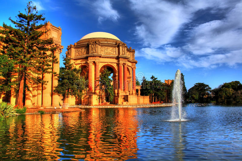HDR of Palace of Fine Arts royalty free stock photography