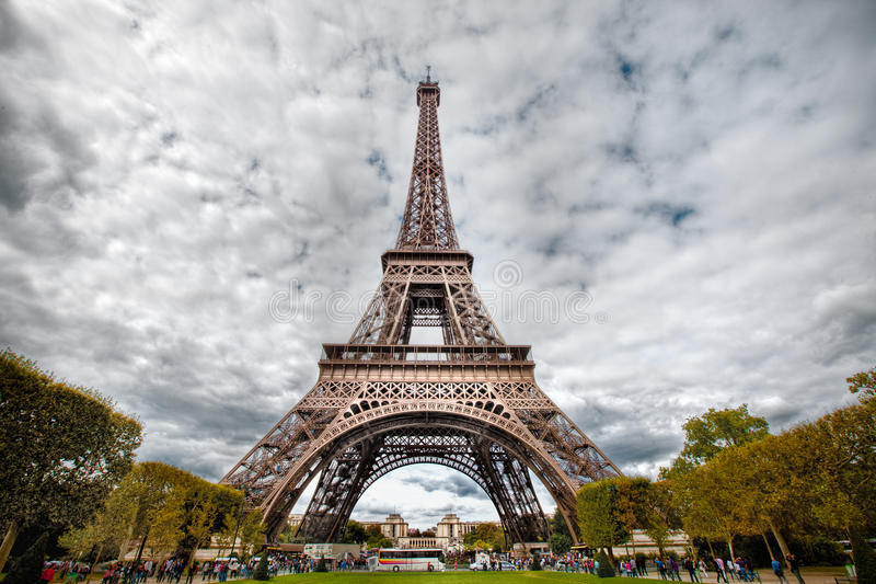 HDR photo of Eifel tower stock photo