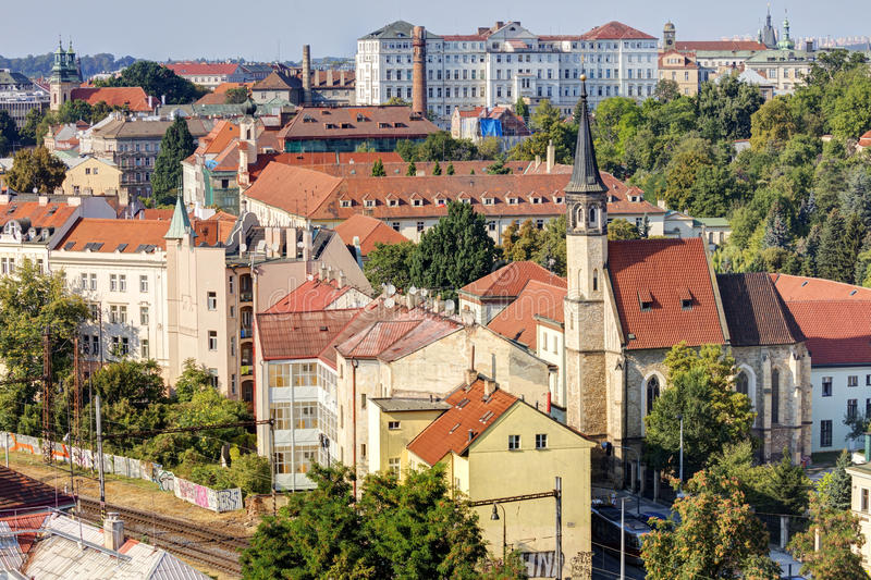 HDR photo of Prague cityscape in afternoon sun, Czech republic. Photo taken at Vysehrad. Prague cityscape in afternoon sun, Czech republic. Photo taken at royalty free stock photos