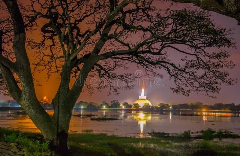 HDR Photography Of The Ruins Of Anuradhapura, Sri Lanka. Anuradhapura Is The First Most Ancient Of Sri Lankas Kingdoms stock image