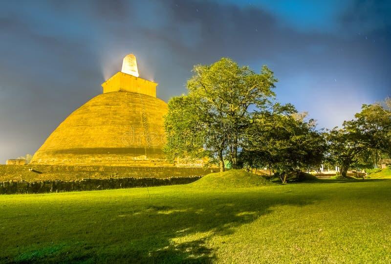 HDR Photography Of The Ruins Of Anuradhapura, Sri Lanka. Anuradhapura Is The First Most Ancient Of Sri Lankas Kingdoms royalty free stock photo