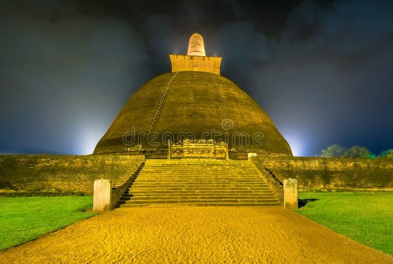 HDR Photography Of The Ruins Of Anuradhapura, Sri Lanka. Anuradhapura Is The First Most Ancient Of Sri Lankas Kingdoms royalty free stock photography