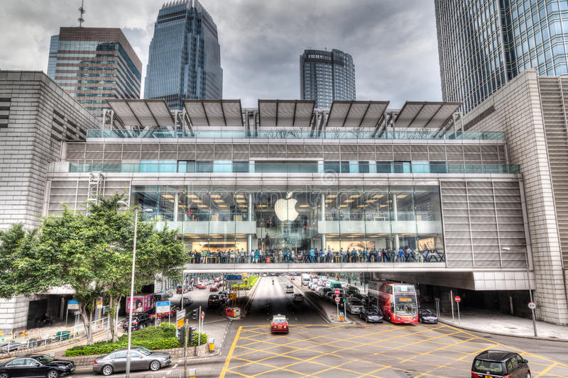 HDR Rendering of Apple Store in Hong Kong royalty free stock images