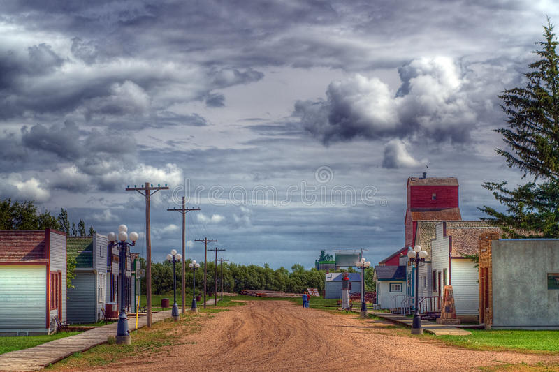 HDR Of A Small Village Royalty Free Stock Photos