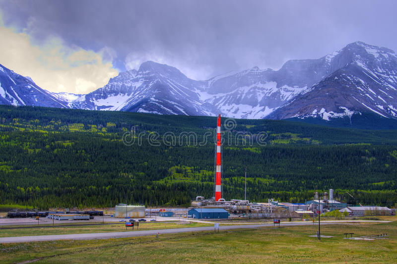 HDR Sour Gas Plant stock images