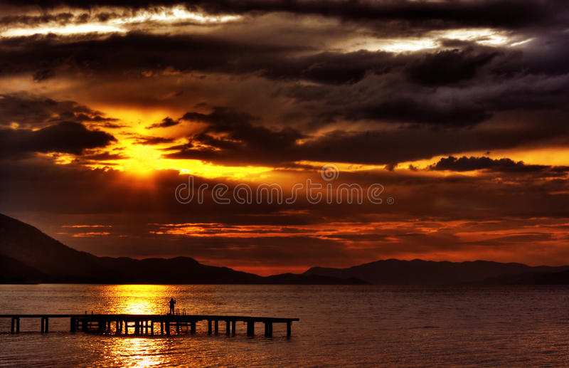 Download Hdr Sunset With Dramatic Clouds Stock Image - Image: 11730441