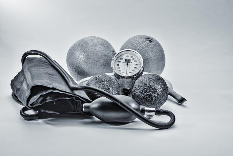 HDR svartvita hälsovårdhjälpmedel royaltyfri foto