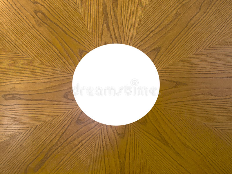 HDR wooden frame with circular cut out stock photography