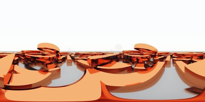 HDRI-översikt stock illustrationer