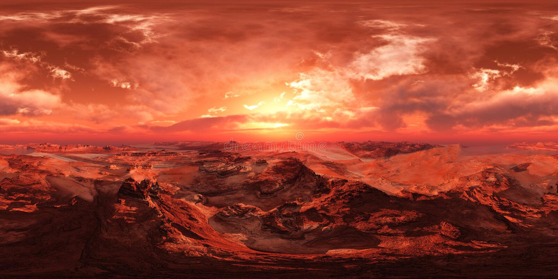 HDRI, χάρτης περιβάλλοντος, Άρης στοκ φωτογραφίες με δικαίωμα ελεύθερης χρήσης