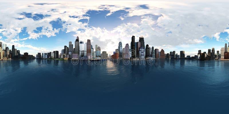 HDRI, Equirectangular projekcja, Bańczasta panorama , środowisko mapa ilustracja wektor