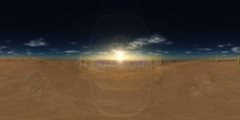 HDRI, Equirectangular projekcja, Bańczasta panorama , środowisko mapa ilustracji