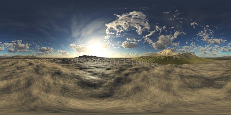 HDRI Equirectangular projektion, sfärisk panorama , Miljööversikt stock illustrationer