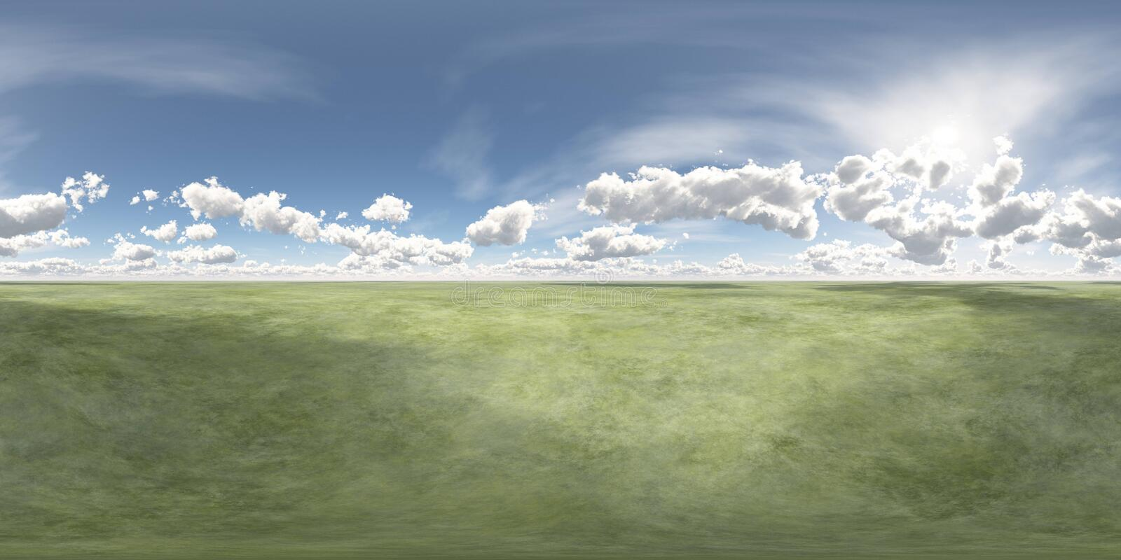 HDRI Equirectangular projektion, sfärisk panorama , Miljööversikt stock illustrationer