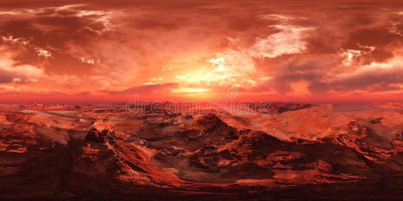 HDRI, Umweltkarte, Mars lizenzfreie stockfotos