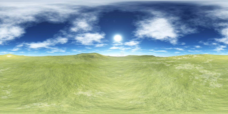 HDRI Wysoka rozdzielczość mapa, ziemia pod niebem ilustracji