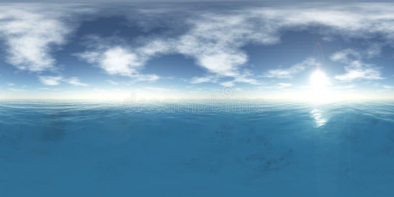 HDRI Wysoka rozdzielczość mapa, ziemia pod niebem ilustracja wektor