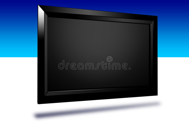 HDTV. This is an illustration of a digital lcd display vector illustration