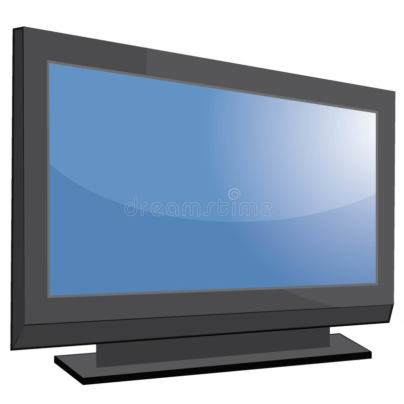 HDTV. Nice looking image of tv with big screen vector illustration
