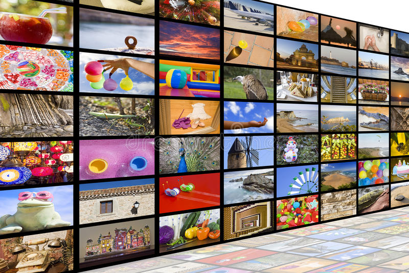 HDTV broadcast concept stock image