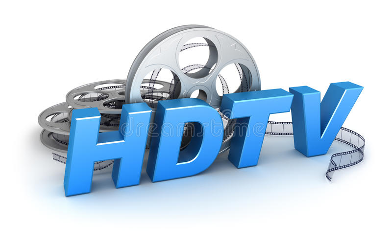 HDTV Video. Concept 3D icon vector illustration