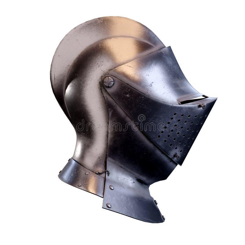 Hełm średniowiecznych rycerzy zdjęcia stock