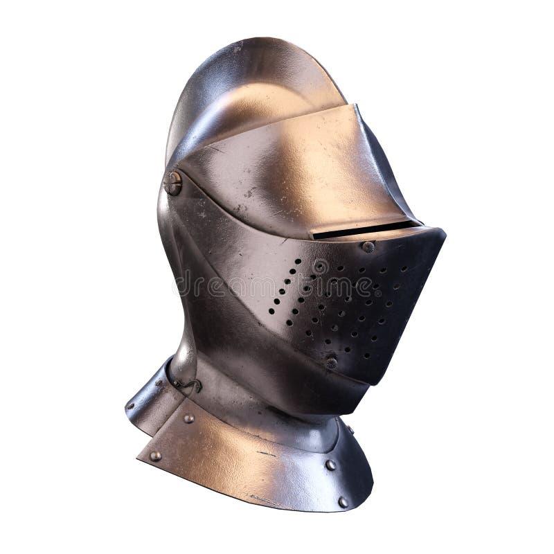 Hełm średniowiecznych rycerzy fotografia stock