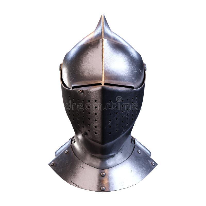 Hełm średniowiecznych rycerzy zdjęcie stock