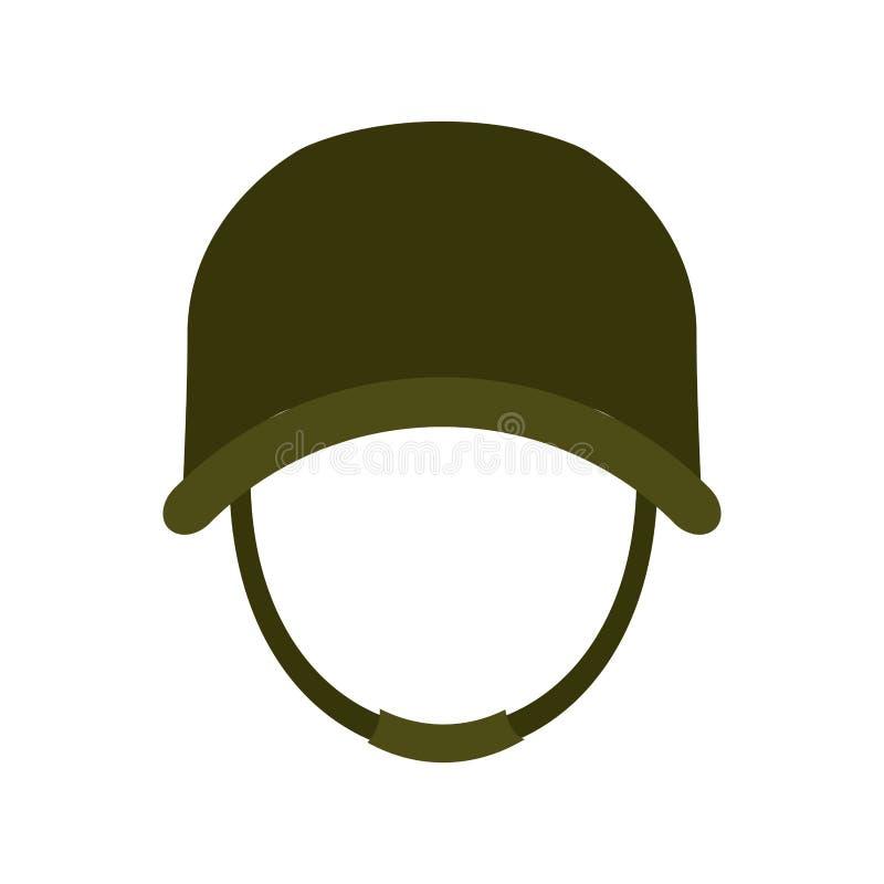 Hełm, militarny wyposażenie ikony wizerunek ilustracja wektor
