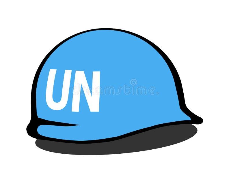 Hełm Narody Zjednoczone peacekeeping siły ilustracji