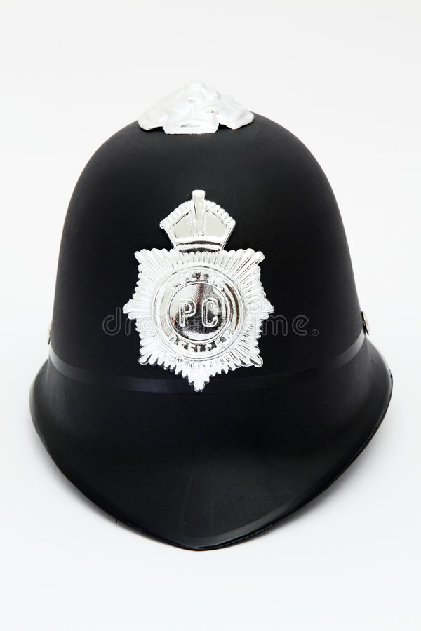 hełm policja obraz stock