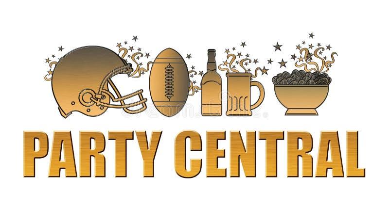 Hełma balowych piwnych układ scalony partyjna centrala royalty ilustracja