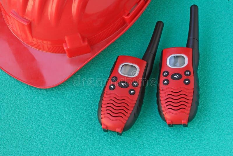 hełma zbawczy talkie walkie zdjęcie stock
