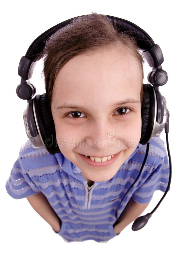 hełmofonów dzieci zdjęcia royalty free