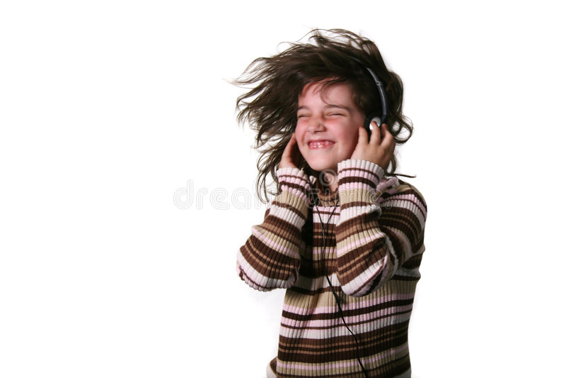 hełmofonów nosić dziecko fotografia royalty free