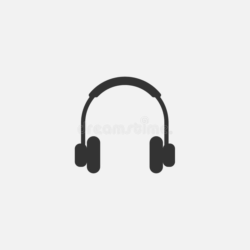 Hełmofon ikona, słuchawka, słucha, muzyka royalty ilustracja