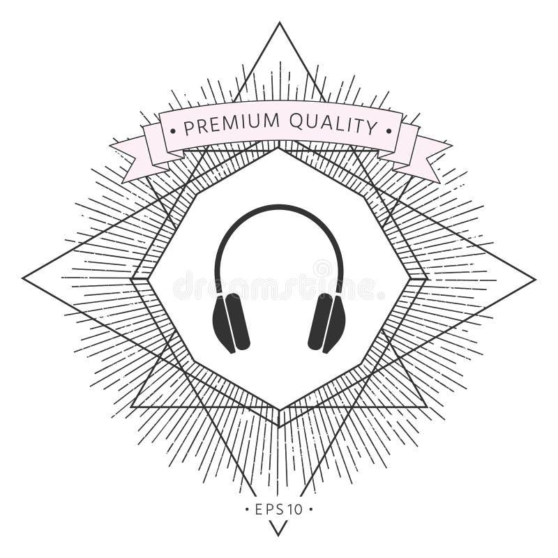 Hełmofon ikony symbol ilustracja wektor