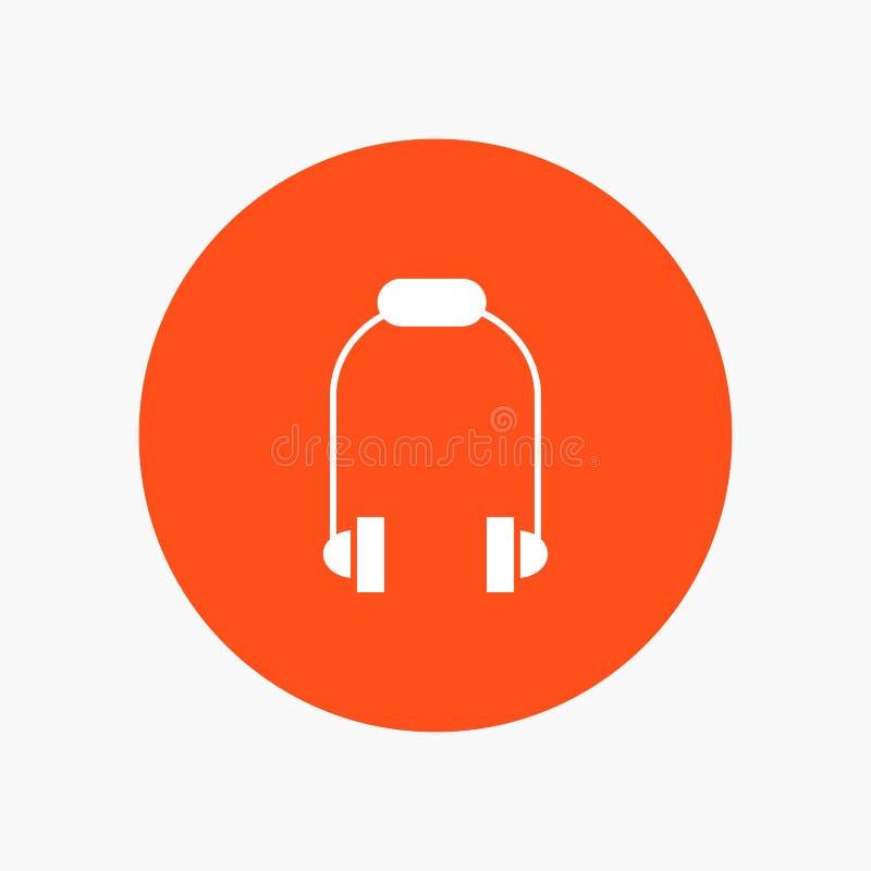 Hełmofon, słuchawka, telefon, muzyka ilustracji