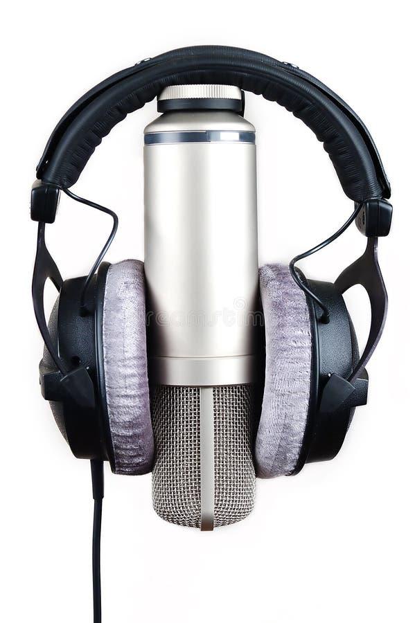 hełmofonu mikrofon zdjęcie royalty free