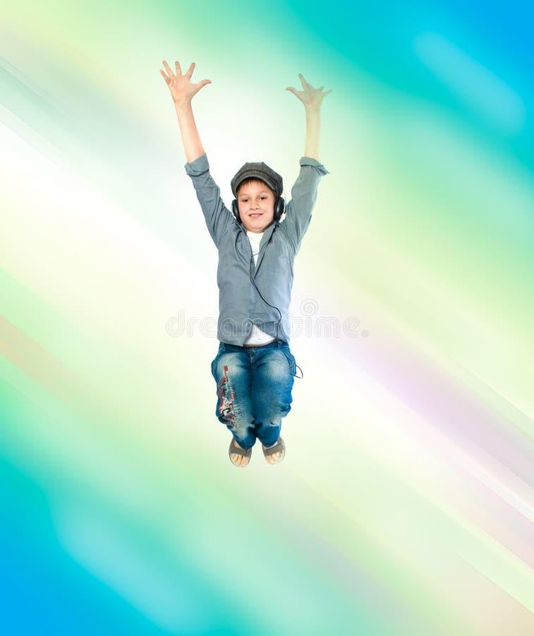 hełmofonu nastolatek zdjęcia stock