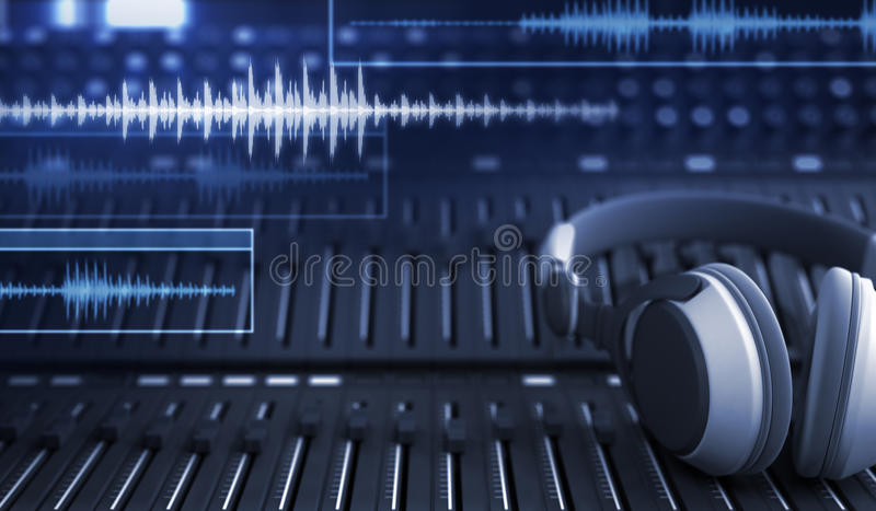 Hełmofony i audio ślada royalty ilustracja