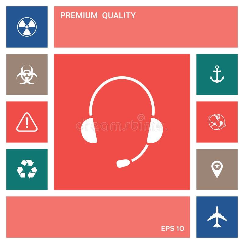 Hełmofony z mikrofon ikoną elementy projektów galerii ikony widzą odwiedzić twój więcej moich piktogramy proszę ilustracji