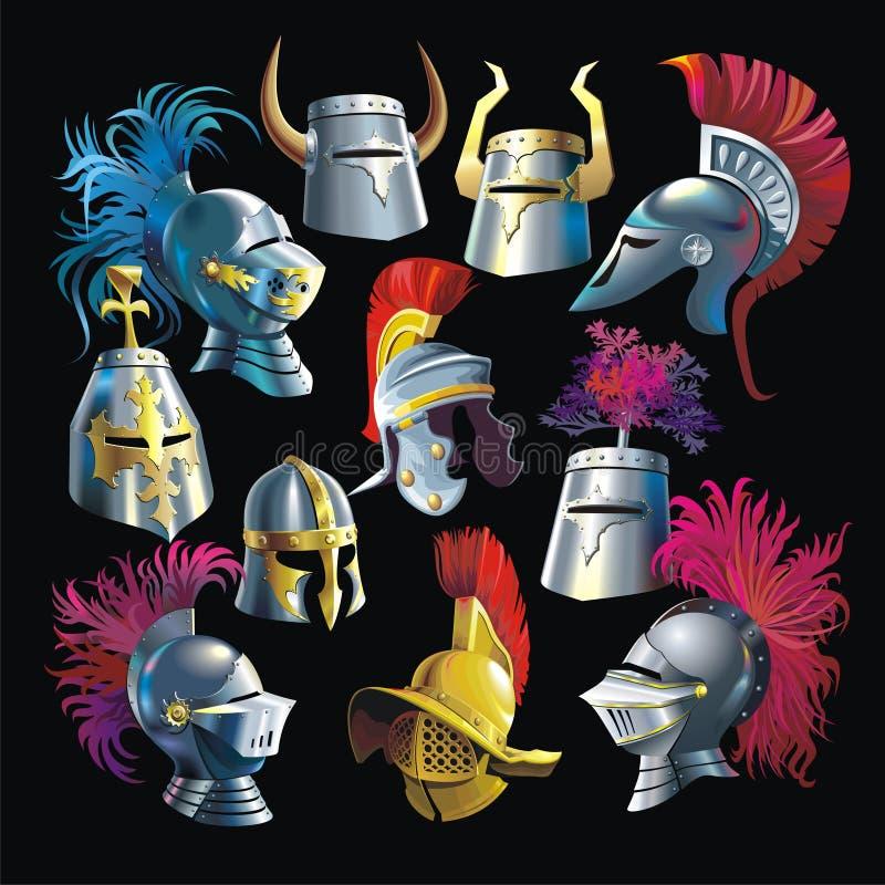 Hełmy royalty ilustracja