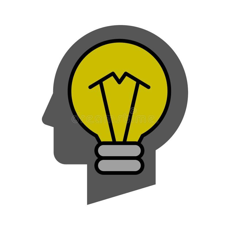Idea bulb head royalty free illustration