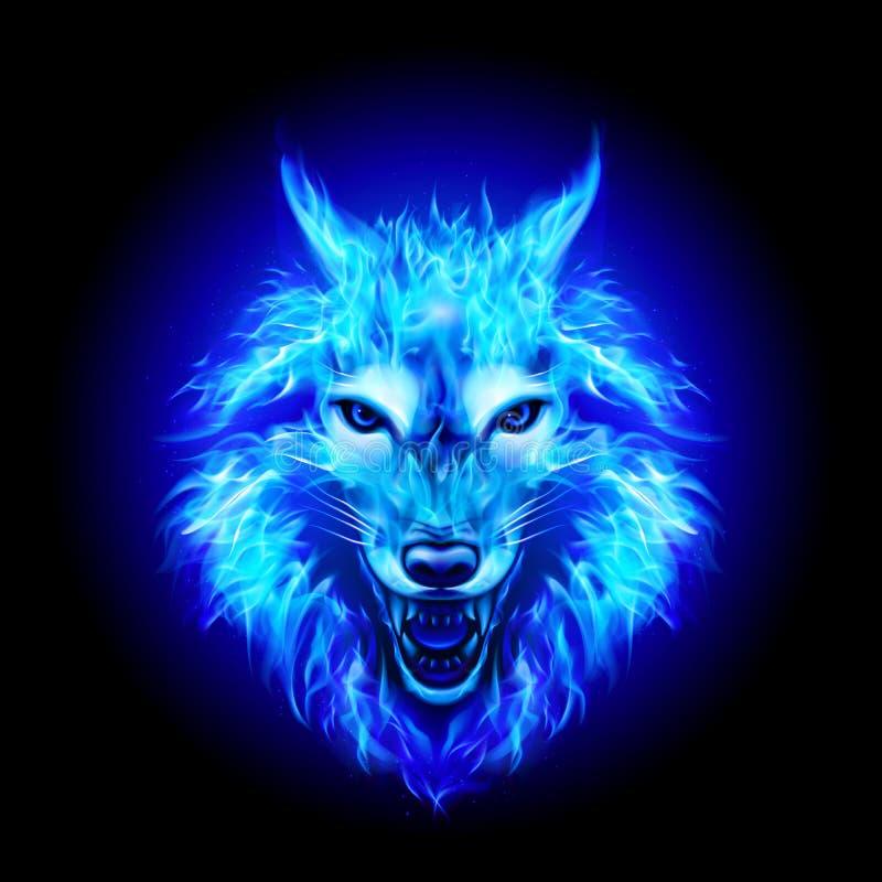 Fire Wolf Head stock illustration