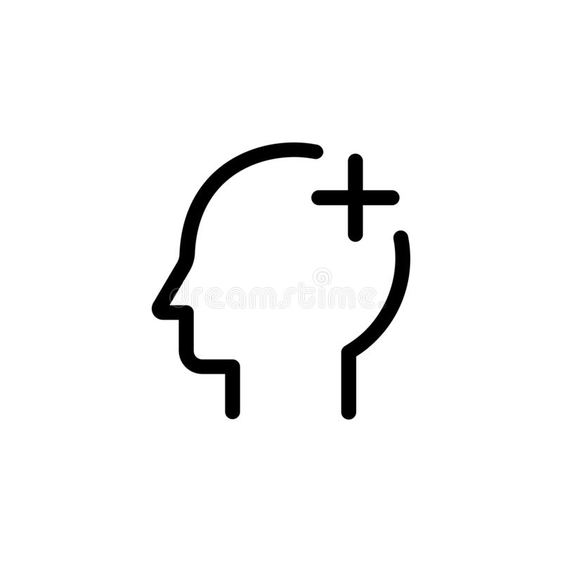 Head aid outline icon. On transparent background royalty free illustration