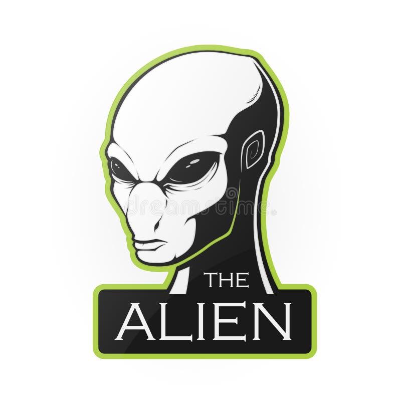 Head of alien vector illustration